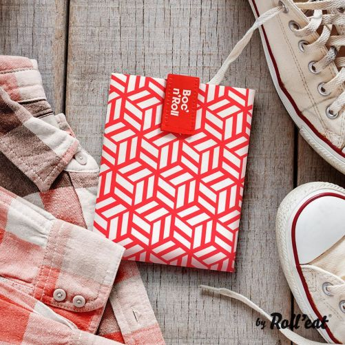 Roll'Eat - Boc'n'Roll Tiles - herbruikbare lunch wrap rood