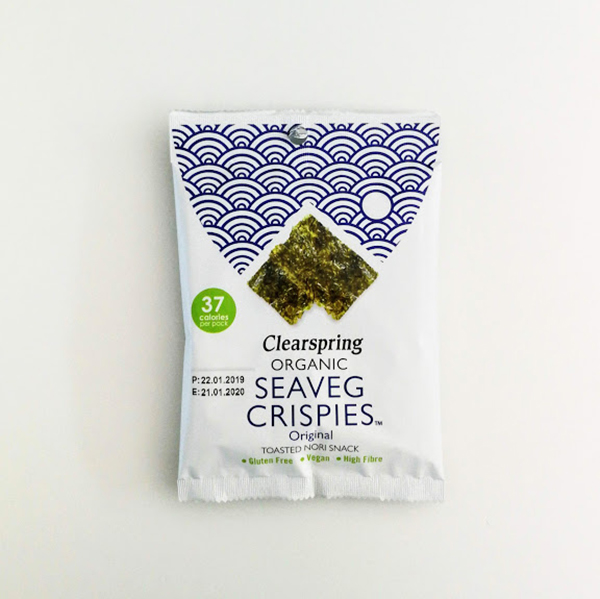clearspring seaveg crispies original 8gr