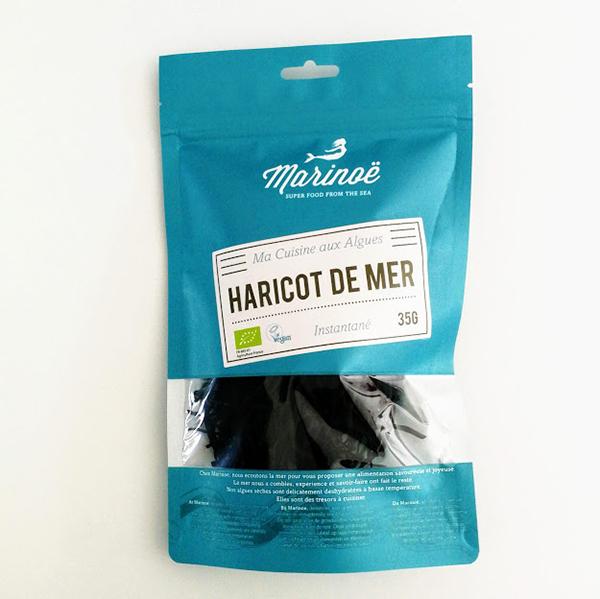 gedroogde zeespaghetti of zeeboontjes van Marinoë 35gr