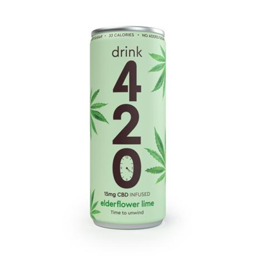 CBD frisdrank Elderflower Lime Drink 420 250ml