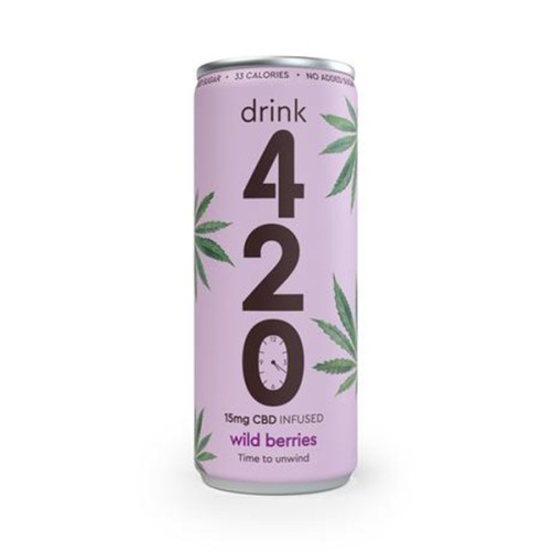 CBD frisdrank wild berries drink 420 250ml