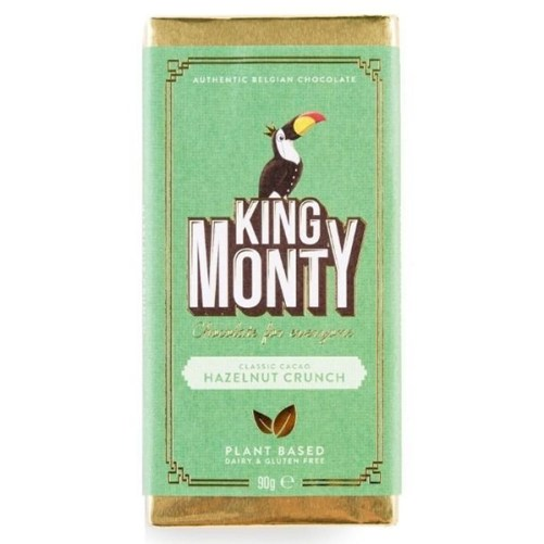 king monty hazelnut crunch vegan lactosevrij