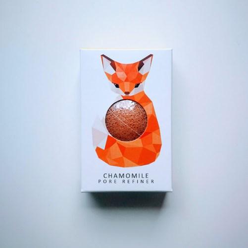 Woodland Fox konjac spons vegan gezichtsverzorging