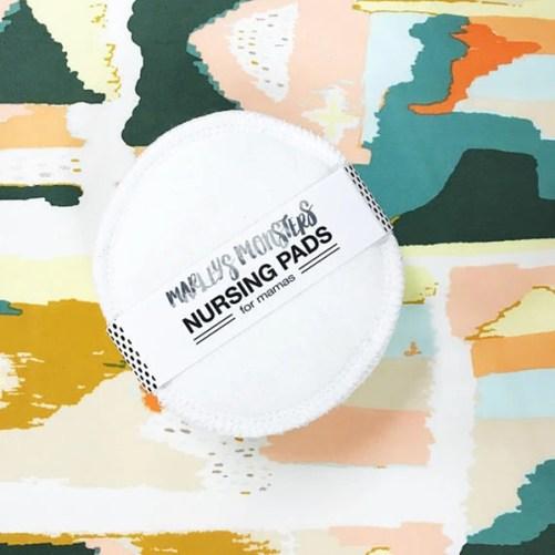 wasbare zoogcompressen Marley's Monsters Nursing pads 6st
