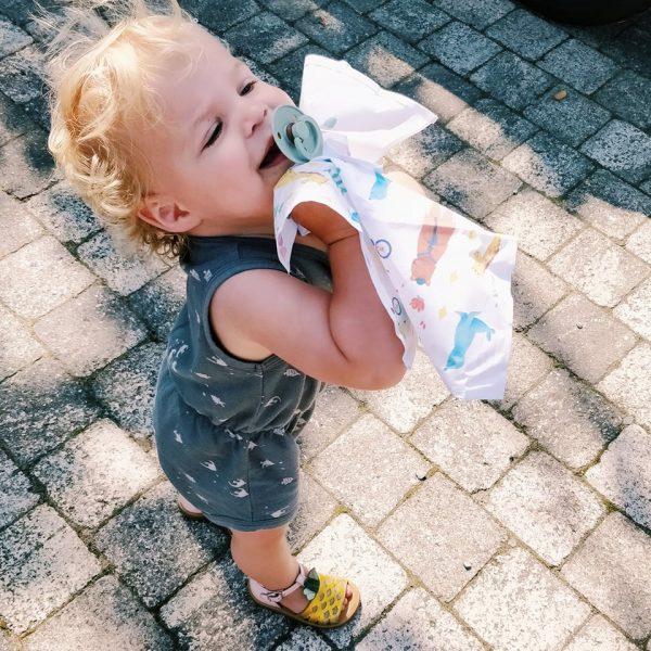 onni vrolijke zakdoek kids - zero waste 3st/doosje
