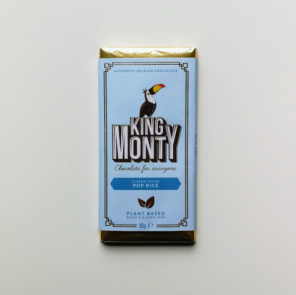 King Monty Pop Rice bar vegan chocolade 90gr