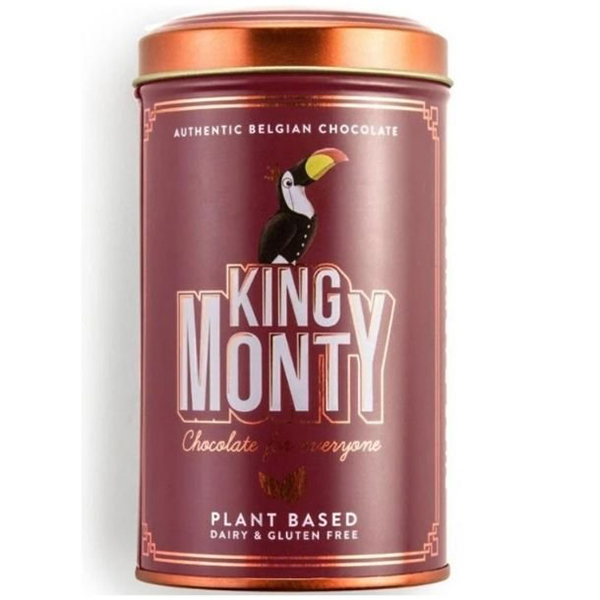 Purest Ecuador Tin king monty vegan lactosevrije chocolade
