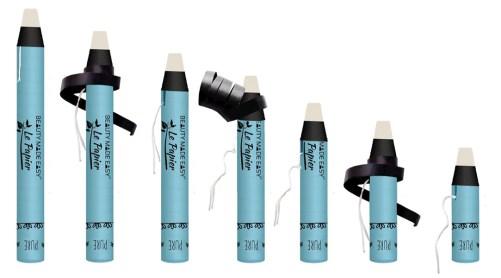 le papier glossy blush vegan lipstick zero waste