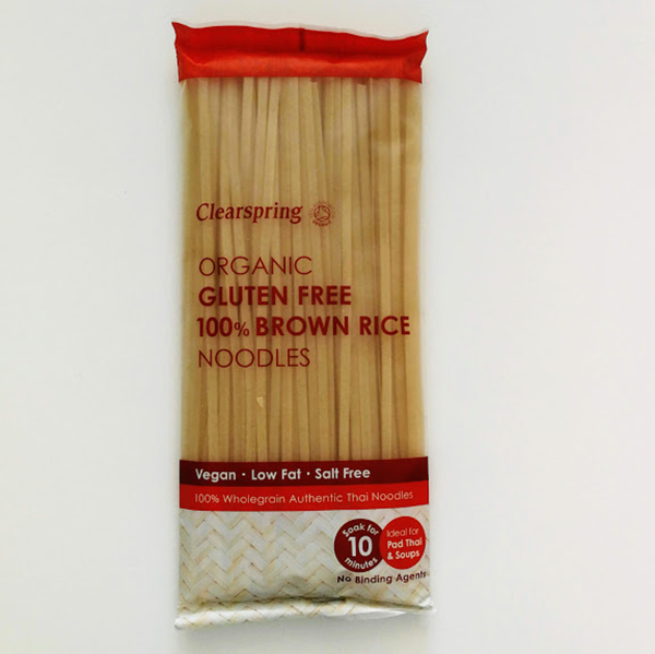Clearspring Brown Rice Noodles 200gr glutenvrije noedels