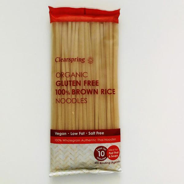 Clearspring Brown Rice Noodles 200gr glutenvrije noedels