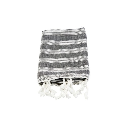 Meraki Hammam Towel Black 90x45cm