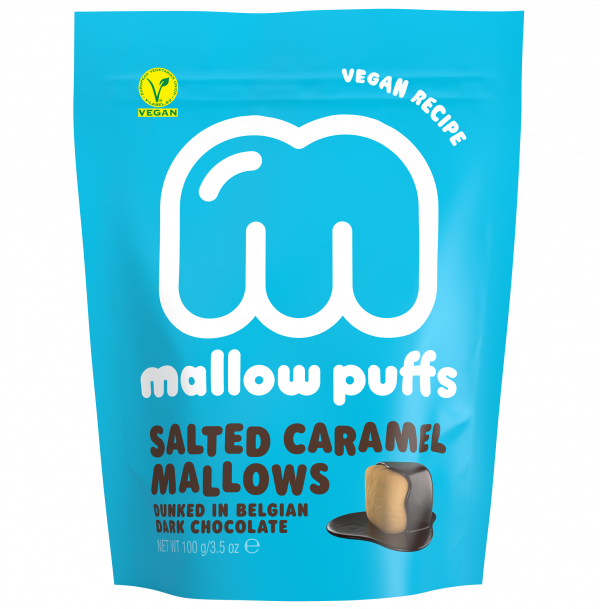 Mallow puffs Salted Caramel vegan marshmallows 100gr