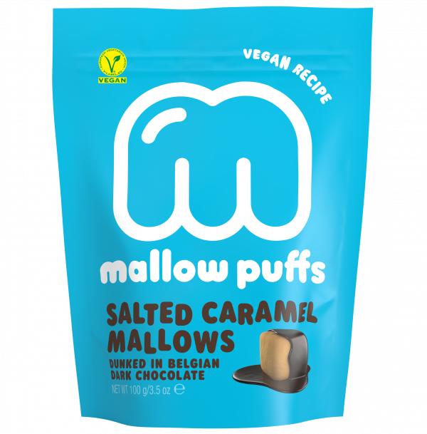 Mallow puffs Salted Caramel vegan marshmallows 100gr