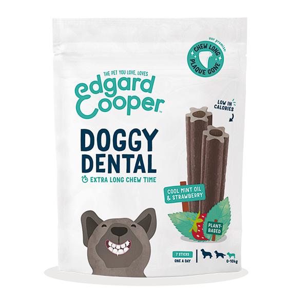 doggy dental munt aardbei edgard & cooper vegan hondensnack