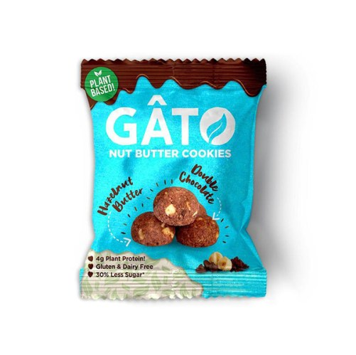 gâto hazelnut butter cookie bites vegan glutenvrije koekjes