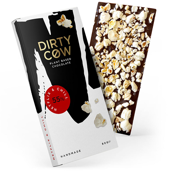 Dirty Cow Chocolate Netflix & Chill vegan lactosevrij