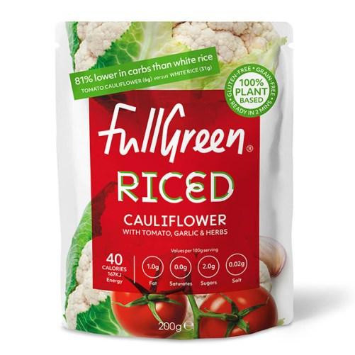 fullgreen riced cauliflower tomato vegan 200gr