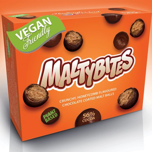 vegan maltesers Maltybites vegan lactosevrij