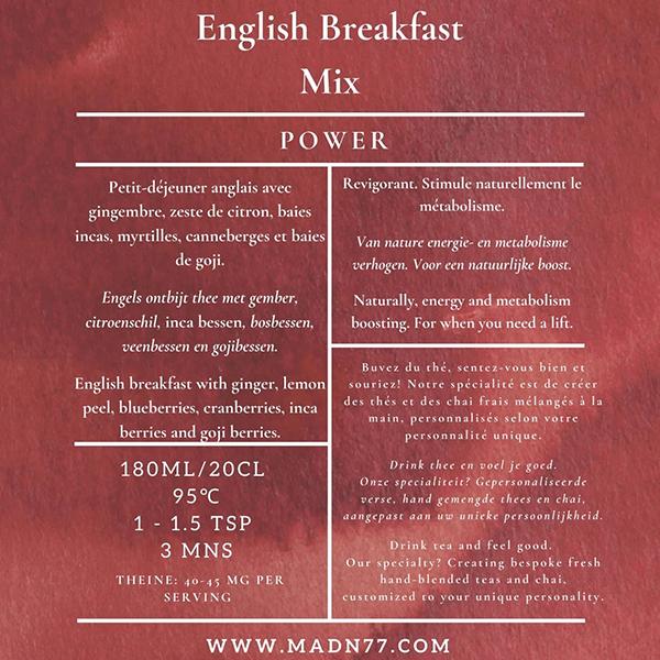 madn77 english breakfast mix thee power elexir