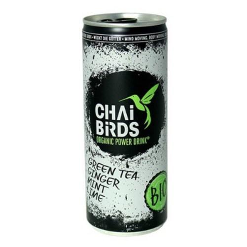 Chai Birds Power Drink Green Tea Ginger Mint Lime vegan 25cl