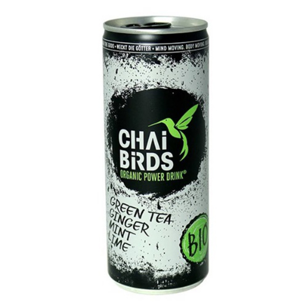 Chai Birds Power Drink Green Tea Ginger Mint Lime vegan 25cl