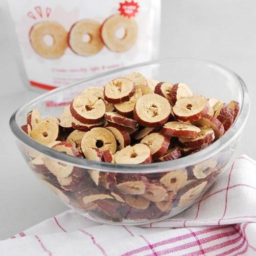 gevriesdroogd jujube fruit Abakus Foods Red Dates Crunchy Crisps 15gr