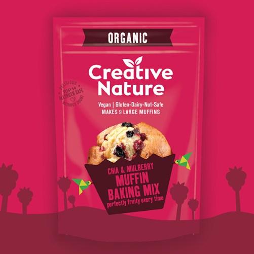 creative nature muffin mix chia & mulberry allergeenvrij