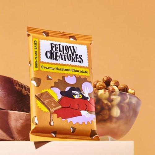 fellow creatures creamy hazelnut chocolate vegan chocolade