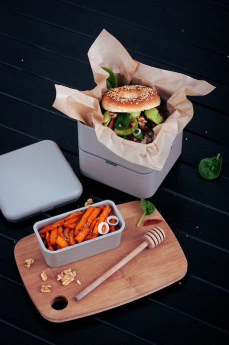 monbento square grey coton grote monbento lunch box