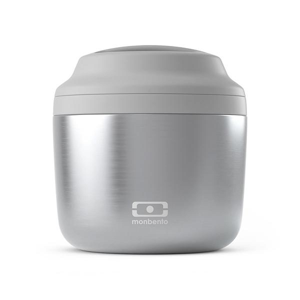 monbento element silver thermos voor voedsel