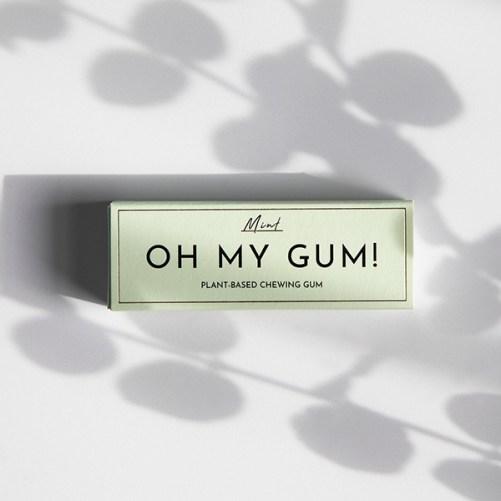 plasticvrije kauwgom oh my gum just mint gum vegan