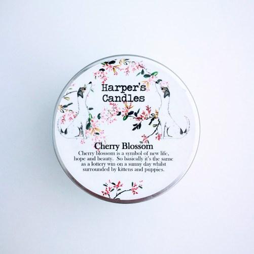 vegan geurkaars Cherry Blossom Harper's Candles