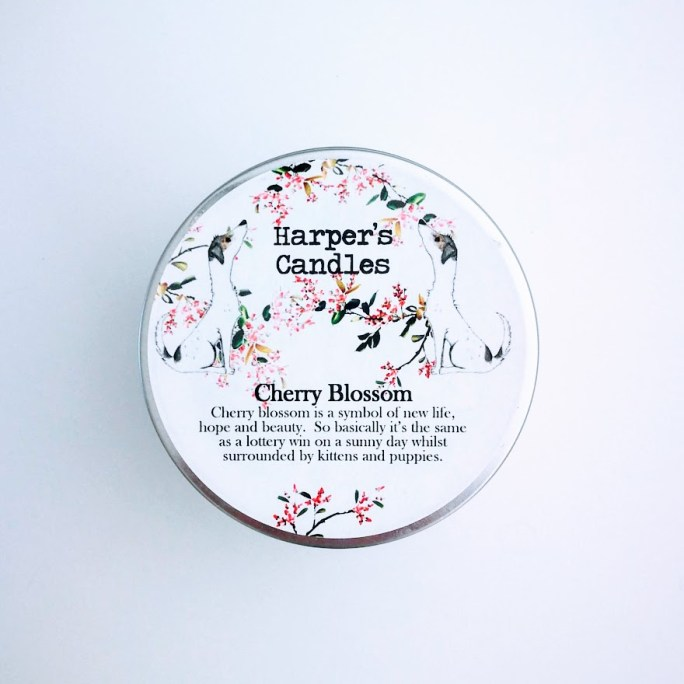 vegan geurkaars Cherry Blossom Harper's Candles