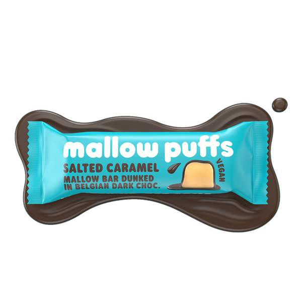 salted caramel mallow bar van Mallow Puffs vegan 30gr