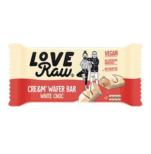 cream wafer bar white choc LoveRaw vegan kinder bueno 45gr