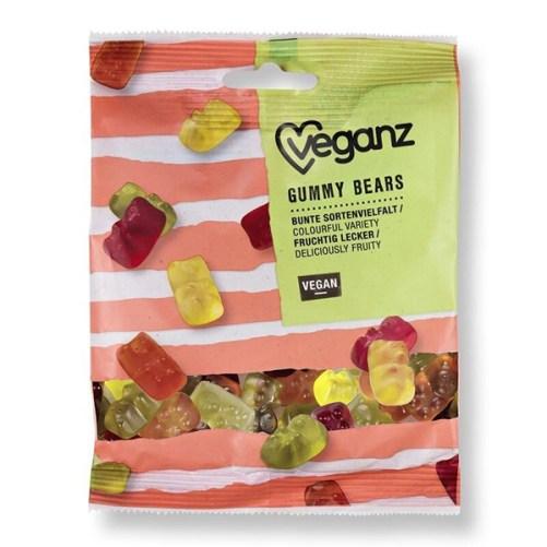 veganz gummy bears vegan gelatinevrije gummibeertjes 100gr