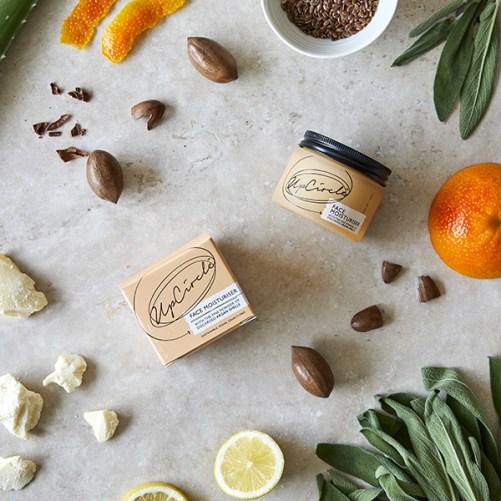 upcircle beauty face moisturiser with argan powder vegan dagcrème