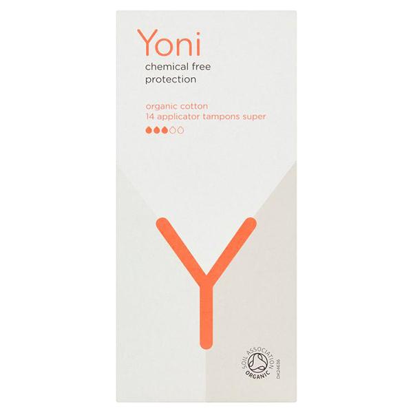 yoni tampons super van biologisch katoen met inbrenghuls