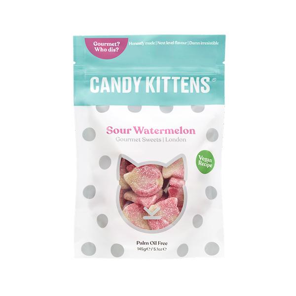 candy kittens sour watermelon 125gr vegan