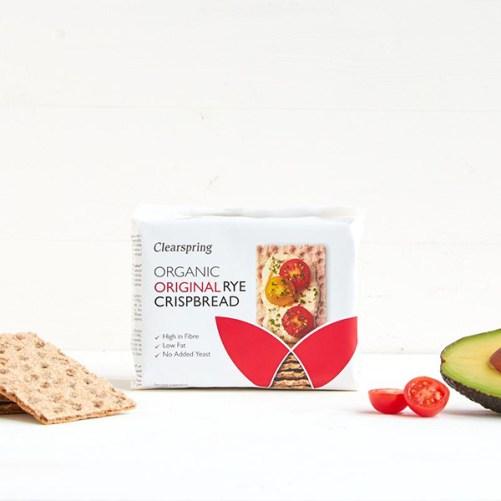 clearspring original rye crispbread vegan 200gr