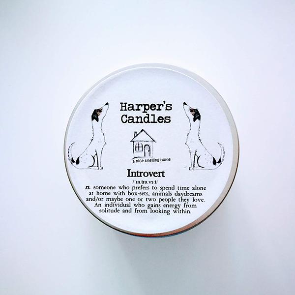 harpers candles introvert vegan geurkaars