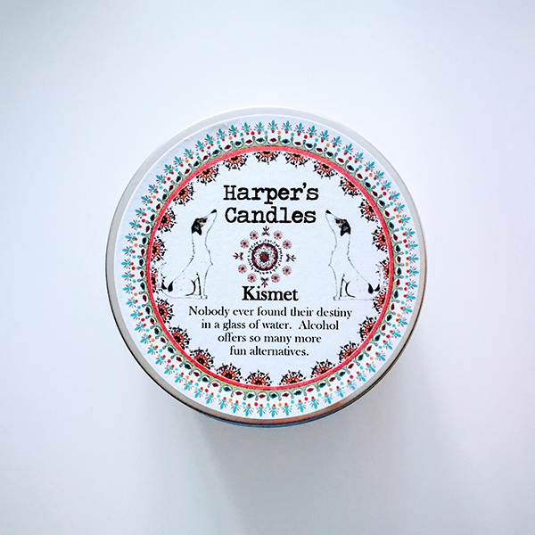 harpers candles kismet vegan geurkaars