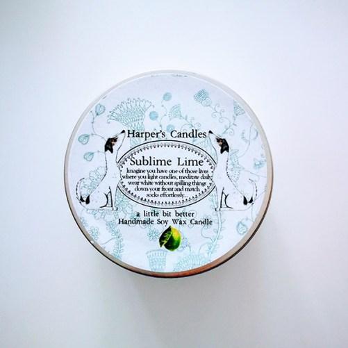 harpers candles sublime lime vegan geurkaars