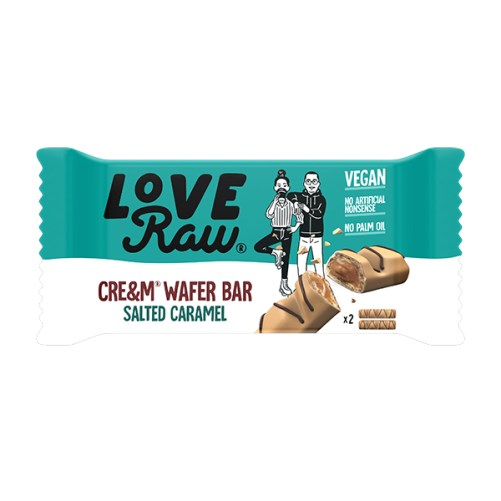 loveraw wafer salted caramel Cream Filled Wafer Bars