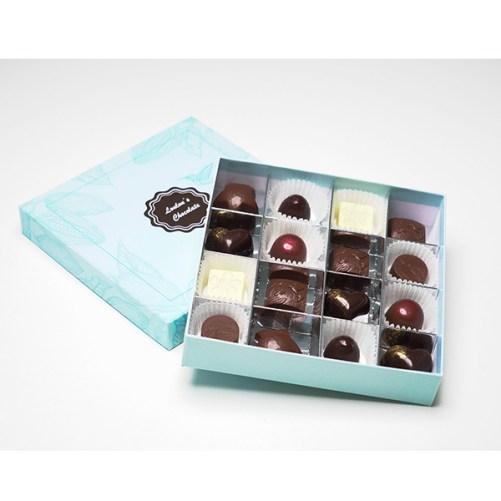 vegan pralines Loulou's Chocolate box of chocolate deluxe