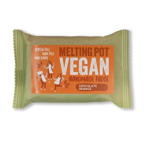 melting pot orange fudge vegan fudge 90gr