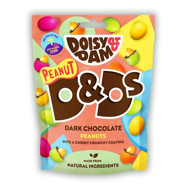 Doisy Dam Peanuts vegan chocolade met een pinda 80gr