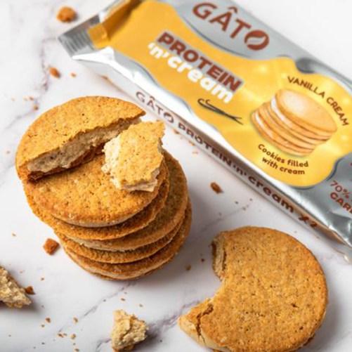 gâto protein creams vanilla proteïne koekjes vegan 50gr