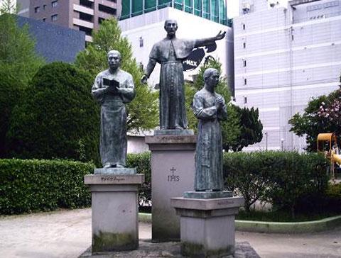 ザビエル公園の銅像