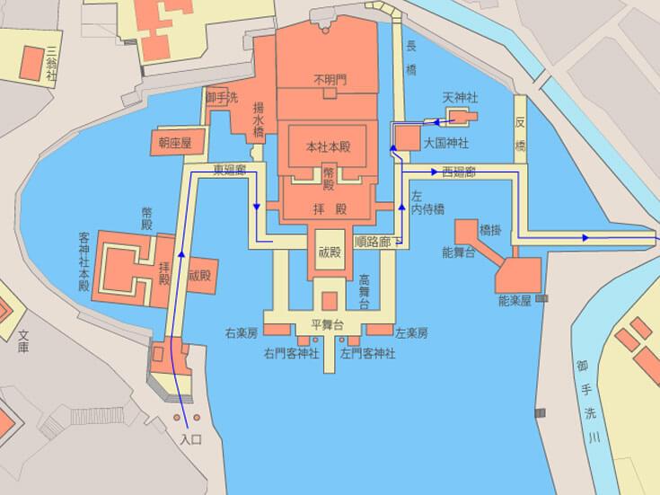 厳島神社地図